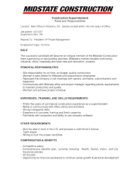 Resume Templates Project Manager Construction Resume Example Dayjob