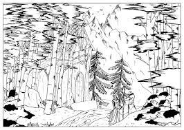 Coloriage De Paysage De Montagne Download Coloriage En Ligne Gratuit