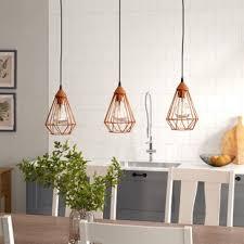 Image Lighting Ideas Chaim 3light Kitchen Island Wayfair Kitchen And Dining Lighting Youll Love Wayfaircouk