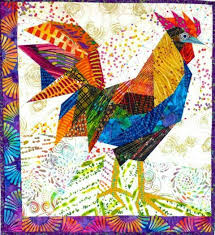 25 best Rooster quilts images on Pinterest | Crafts, Molde and ... & Gallus Gallus Ann Shaw (Ruth Mcdowell teacher) pattern from fiddlesticks  quilt shop Adamdwight.com