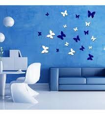 blue 3d wall art sticker