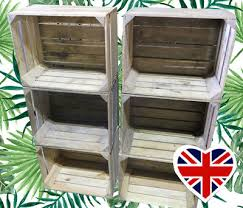 wooden fruit crates choose your qty rustic vintage boxes free delivery