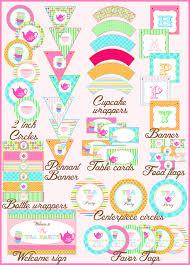 Tea Party Free Printables Tea Birthday Party Partyideasbynancy