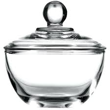 true clear glass sugar bowls with lid 8 ounce set of 4 lids er dish uk