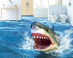 shark wallpaper 3d. Perfect Shark Decoration Home 3d Flooring Bathroom Terror Shark Wallpaper  Floor Waterproof Self Adhesive Pvc Vinyl High Resolution Wallpapers  Inside 0