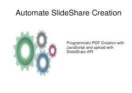 slideshare api automate with slideshare api