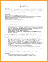 Objective For Teacher Resume Resume Layout Com