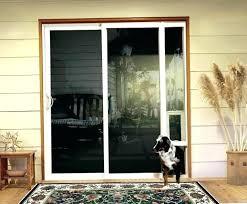 screen door with doggie door built in sliding glass door with dog door built in sliding