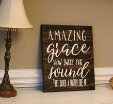 amazing grace how sweet the sound sign on customized wooden wall art with amazing grace how sweet the sound wood sign hymn art engraved