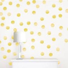 wall pops metallic gold confetti dots