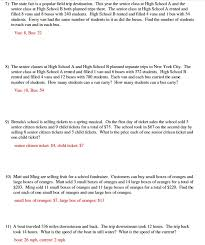 systems of equations word problems worksheet unique writing systems equations worksheet worksheets for all images