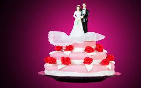 Happy 25th Wedding Anniversary Cake Illustration Marriage