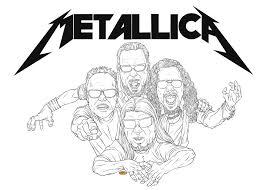 Kleurplaat Metallica Metallica Coloring Pages Metallica Colouring