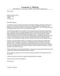 Sample Cover Letter For Attorney General Cover Letter