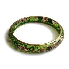 plique a jour stained glass fl bangle bracelet