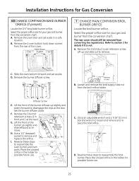 Installation Instructions For Gas Conversion 7 Change Main