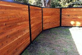 Wood and metal privacy fence Luxury Wooden Horizontal Wood Fence With Metal Posts Fence Trac Build Wood Fence With Metal Posts thats Actually Beautiful