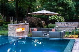 Backyard Pool Landscaping Small Backyard Pool Landscaping Ideas Home Design Ideas