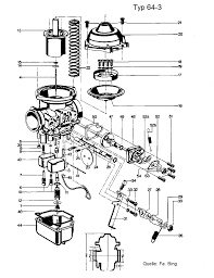 Idle screws 34 can be accessed from the top and must be used to balance the idle rpm of both cylinders to be as equal as possible