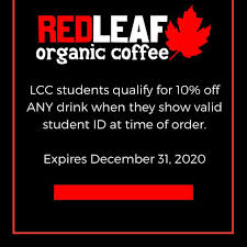 Restaurants near red leaf organic coffee in woodland Redeemable At All Red Leaf Locations Red Leaf Organic Coffee Co Facebook
