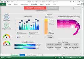 Payroll Free Software Download Excel Human Resource Dashboard Shows Headcount Payroll Information