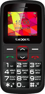 Купить мобильный <b>телефон teXet TM</b>-<b>B217</b> black and red в ...