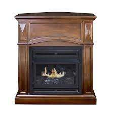 com pleasant hearth convertible vent free dual fuel fireplace 35 inch cherry home kitchen