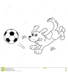 Profilo Della Pagina Di Coloritura Del Cane Del Fumetto Con Pallone