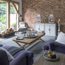 modern country living rooms. Modern Country Living Room With Exposed Brick Wall Rooms
