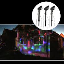 Christmas Projector Lights Ebay Details About 3pc Outdoor Led Light Projector Set Multicolour Disco Lights Christmas Xmas