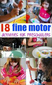 fine motor activities for preers