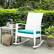 outdoor wicker rocking chairs with cushions. wicker rocking chairs indoor outdoor patio porch white high back chair with turquoise cushion cushions e