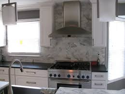 Marble Tile Backsplash Kitchen Do You Have Marble Or White Granite Behind Cooktop Backsplash