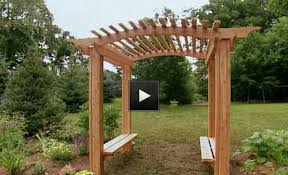 Small Picture How to Build a Romantic Garden Arbor