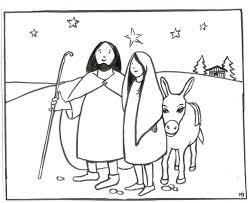 Geloven Thuis Kleurplaat Op Weg Naar Betlehem