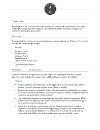 Writing a Cover Letter general resumes