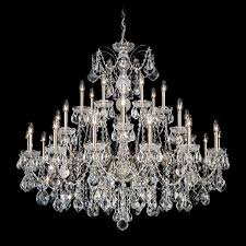 schonbek century 28 light crystal chandelier in antique silver