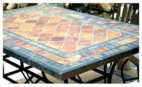 tile outdoor table. Tile Outdoor Table Patio Top Captivating Mosaic Slate . R