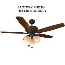hampton bay rockport 52 led oil rubbed bronze ceiling fan