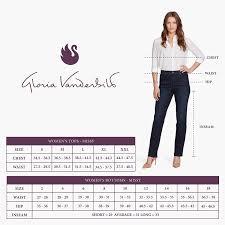 Gloria Vanderbilt Jeans Size Chart Gloria Vanderbilt Womens Amanda Classic Tapered Jean Portland Wash 16 Short
