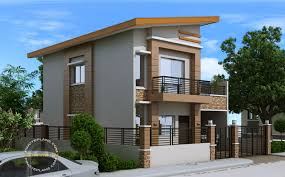 Modern house plan like dexter model is a 4 bedroom 2 story house featured by pinoyeplans three meters from the front boundary or fence is a small porch