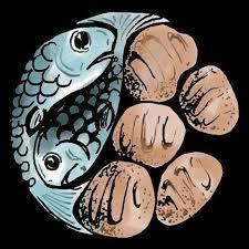Kuvahaun tulos haulle two fishes five loaves