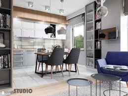 soft loft w szarościach drewniane akcenty zdjęcie od mikoŁajskastudio kuchnia styl industrialny
