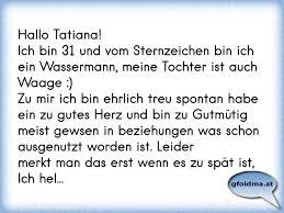 Hallo Tatianaich Bin 31 Und Vom Sternzeichen Bin Ich Ein Wassermann