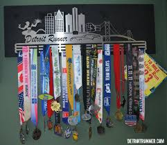 completed display with medals