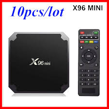 10pcs X96mini Smart TV BOX X96 Mini Android 7.1 Amlogic S905W 2.4G WiFi Set  top box|Set-top Boxes