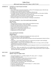 Data Software Engineer Resume Samples Velvet Jobs