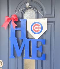chicago cubs home door hanger by whimsechols on etsy football baseball crafts chicago cubs cubs fan