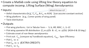 create a matlab code using lifting line theory equ com question create a matlab code using lifting line theory equ
