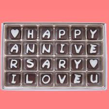 I Love You Chocolate Happy Anniversary Gift Boyfriend Gift Girlfriend Her Romantic Love Letter Wedding Anniversary Gift Idea Wife Gift
